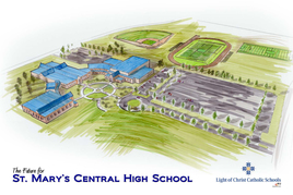 Picture of artists rendering of the New SMCHS